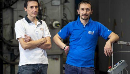 Da sinistra Alberto e Alessandro titolari PVD Technologies