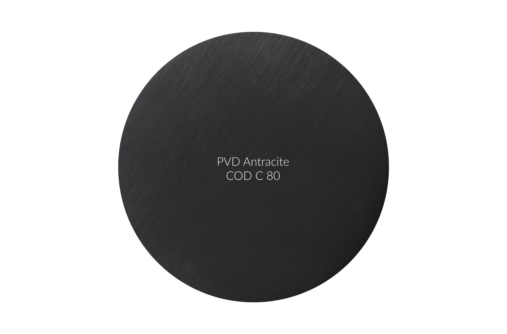 Dischetto PVD antracite cod C 80 graffiato