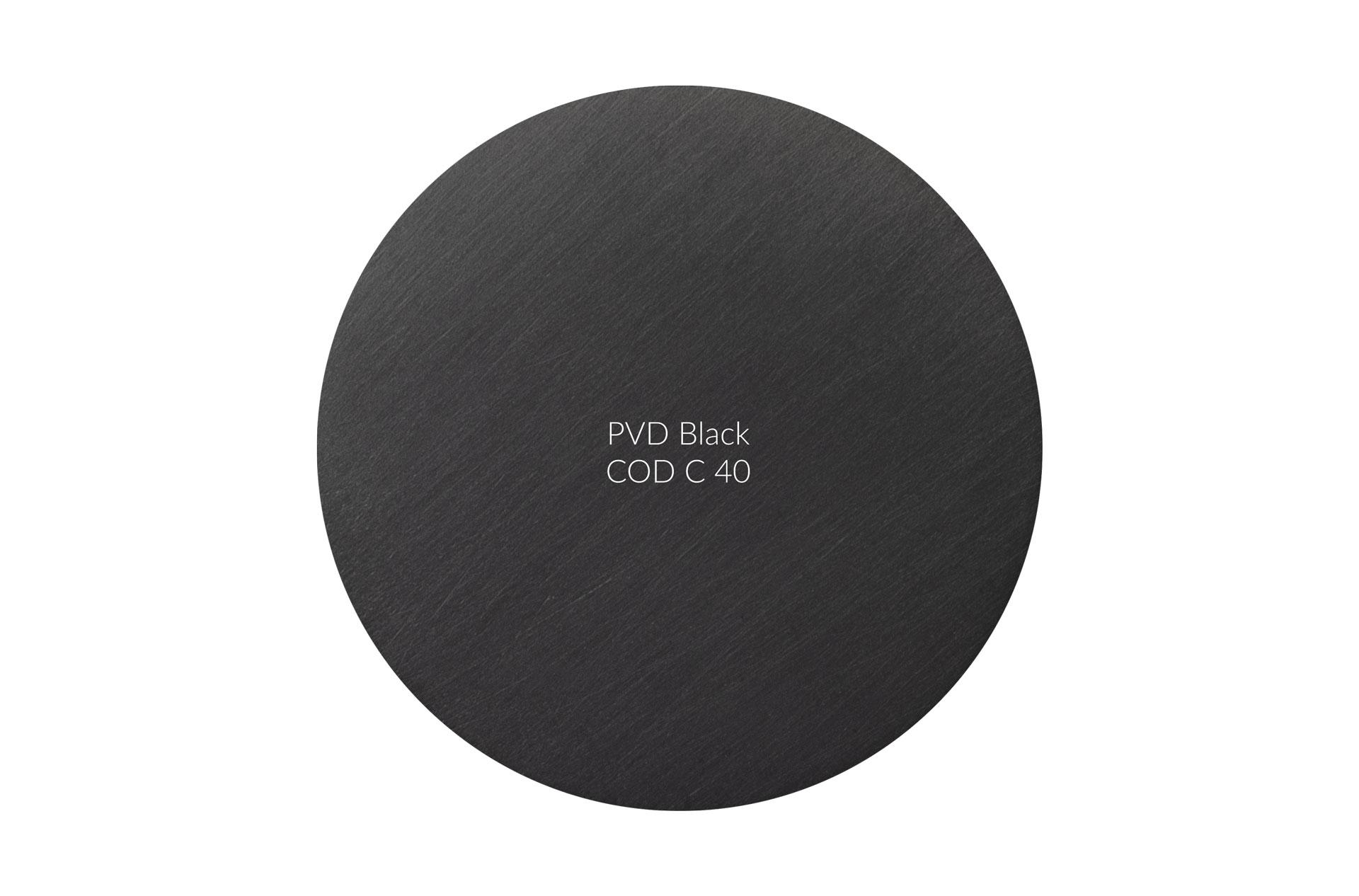 Dischetto PVD black cod C 40 graffiato