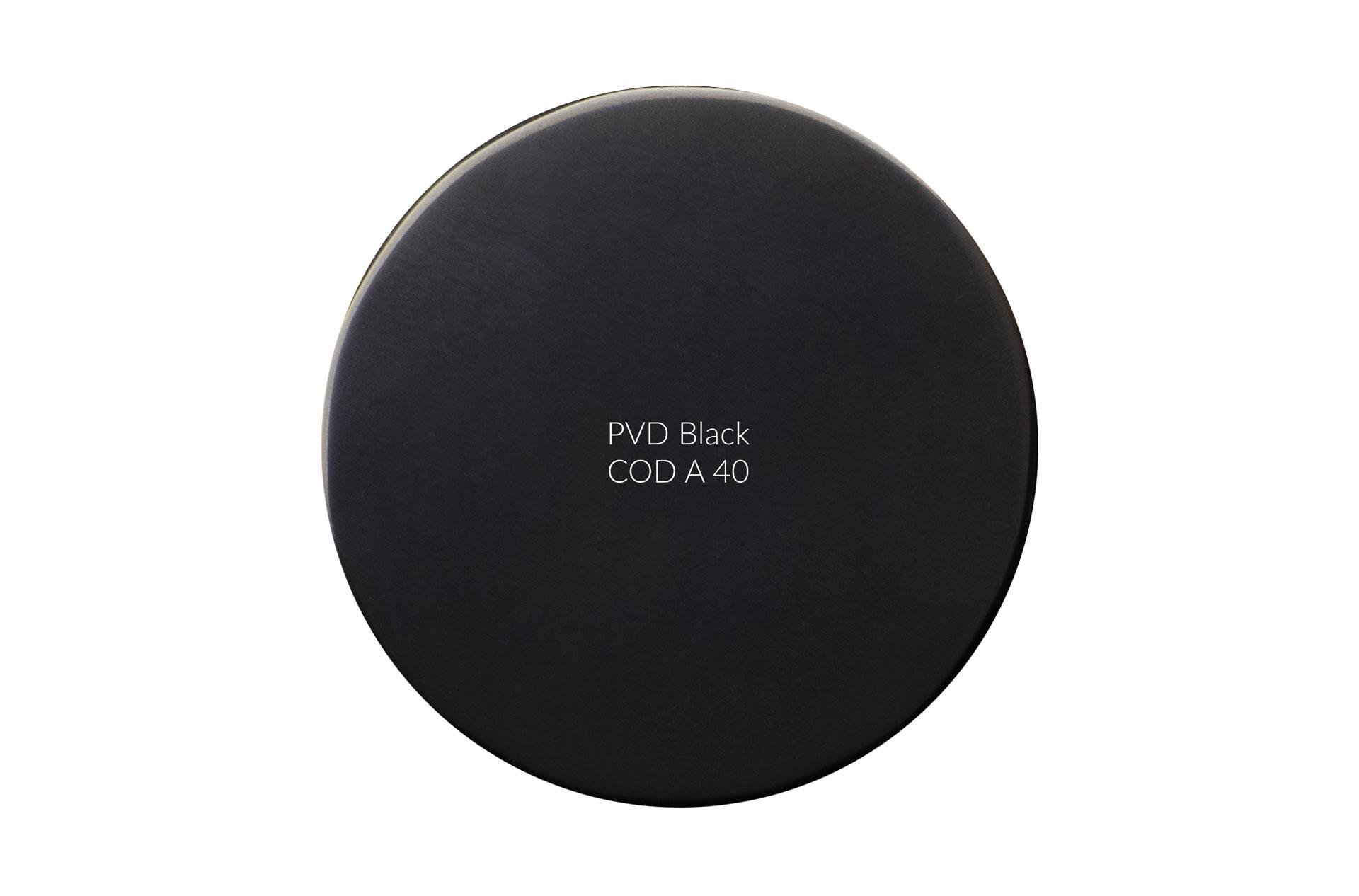 Dischetto PVD black cod A 40 lucido