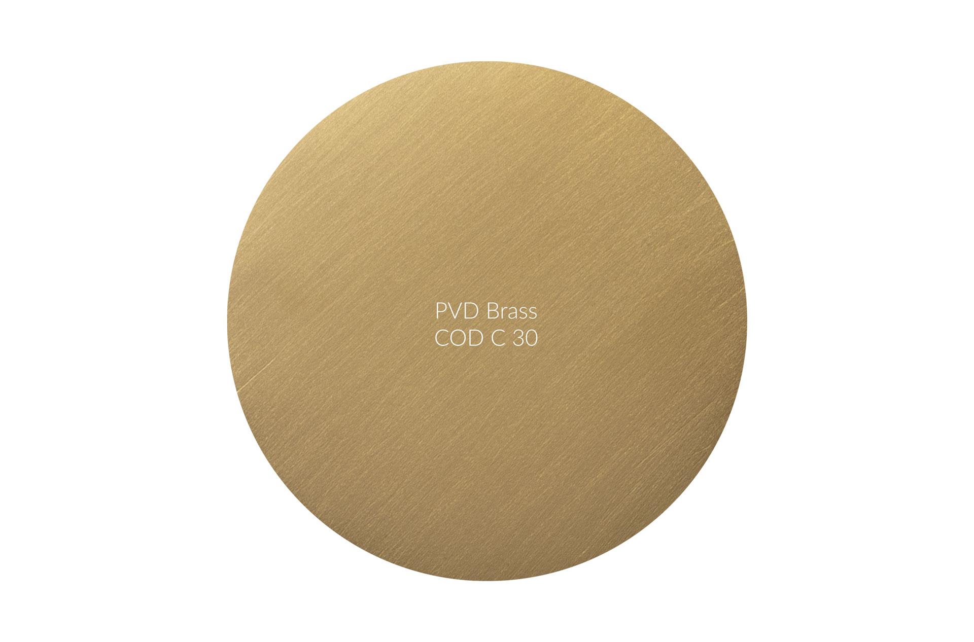Dischetto PVD brass cod C 30 graffiato