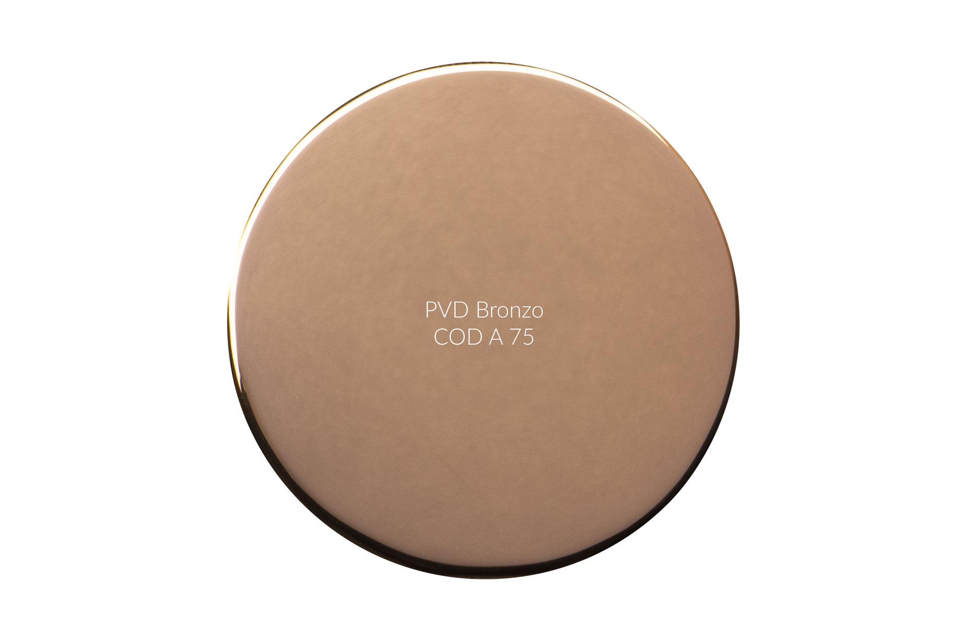 Dischetto PVD bronzo cod A 75 lucido