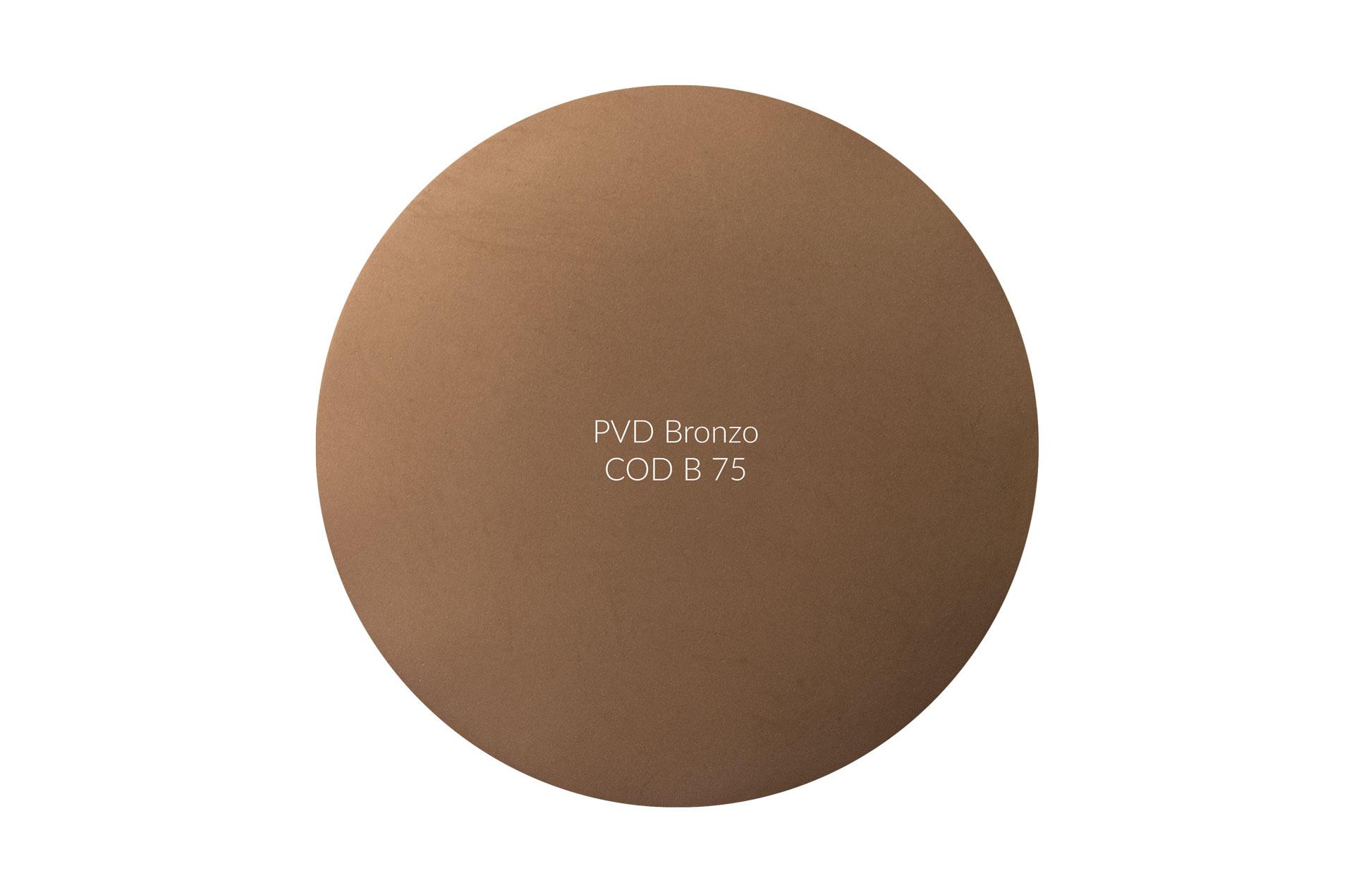 Dischetto PVD bronzo cod B 75 opaco