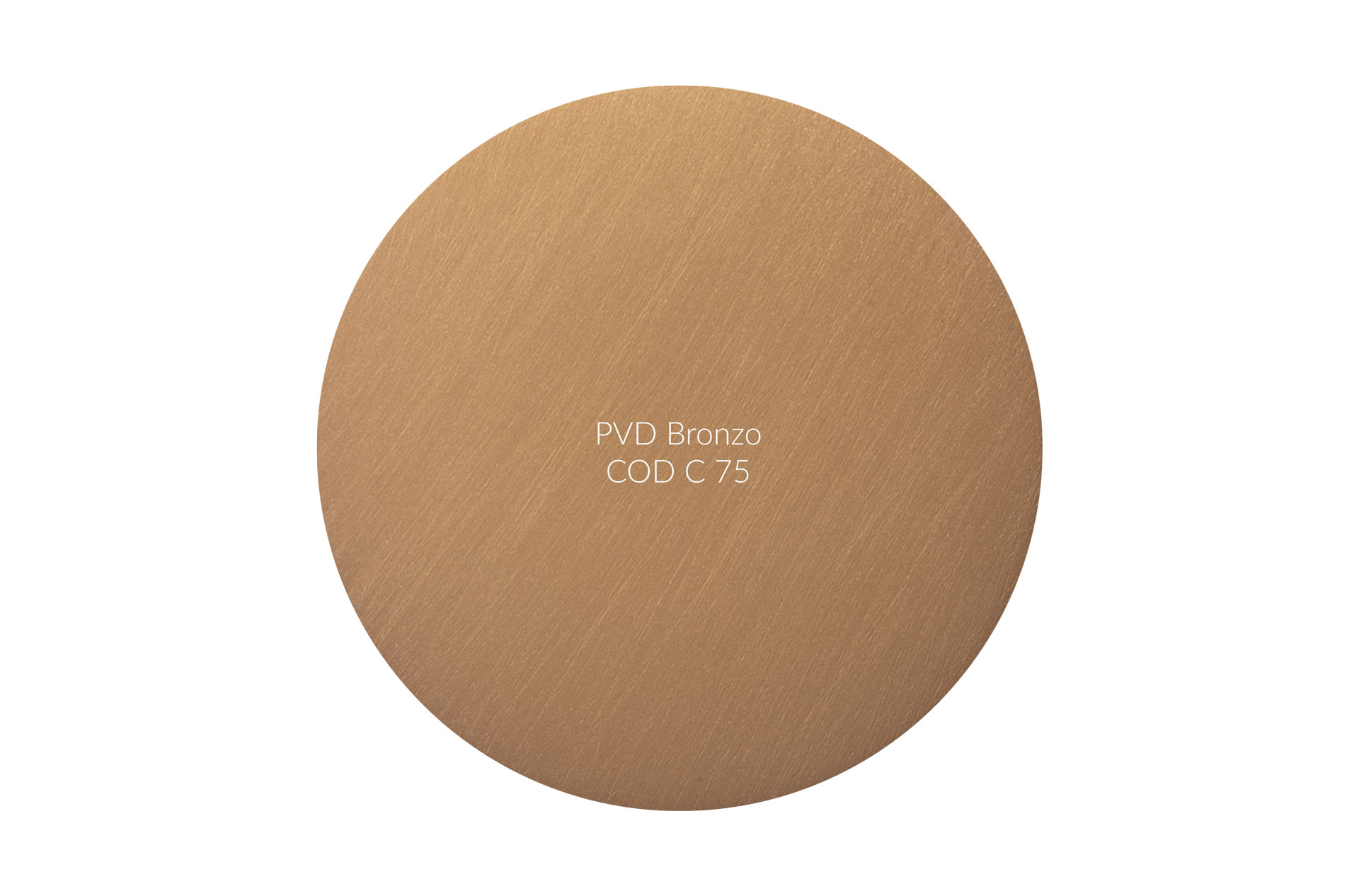 Dischetto PVD bronzo cod C 75 graffiato