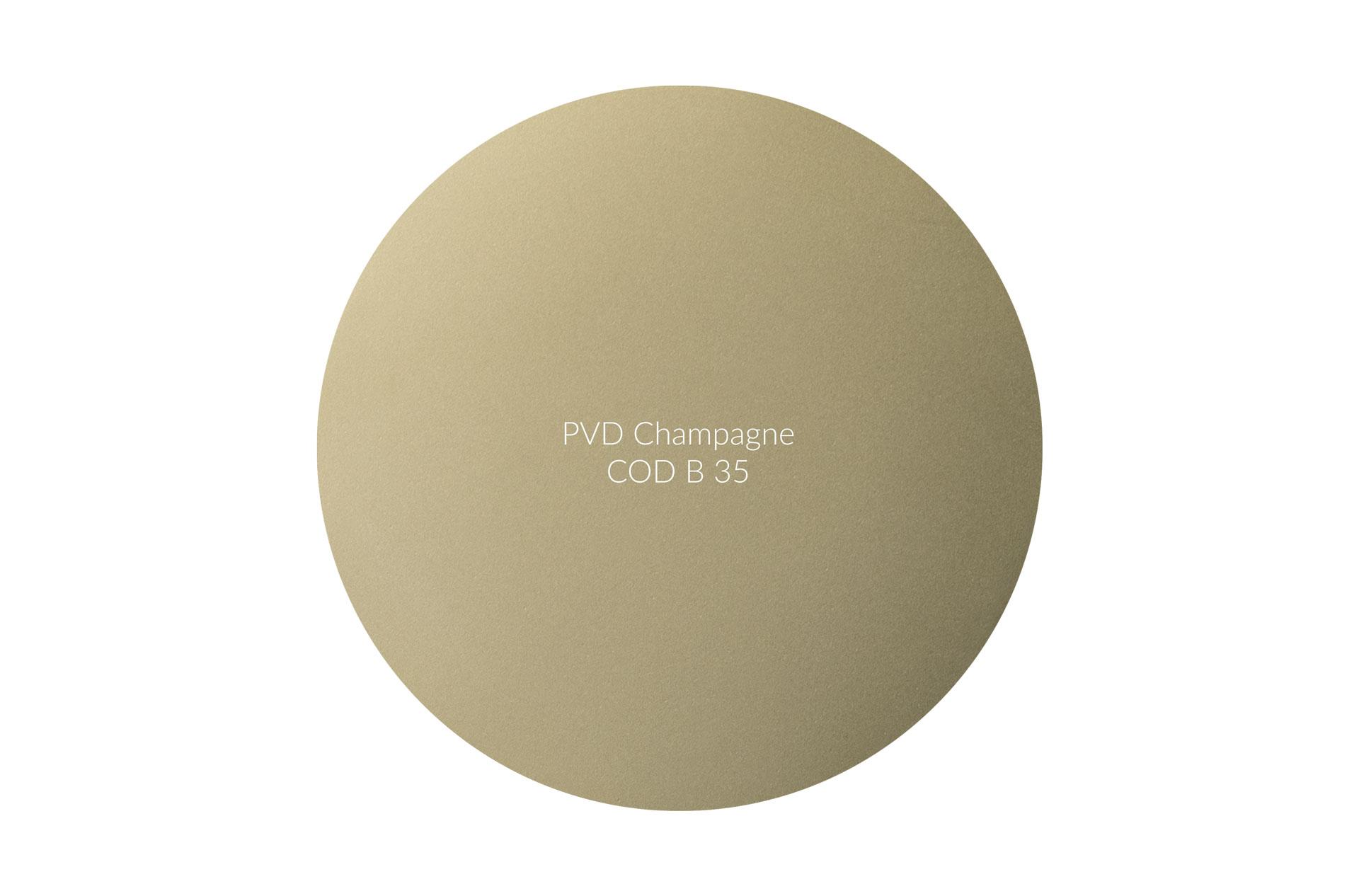Dischetto PVD champagne cod B 35 opaco