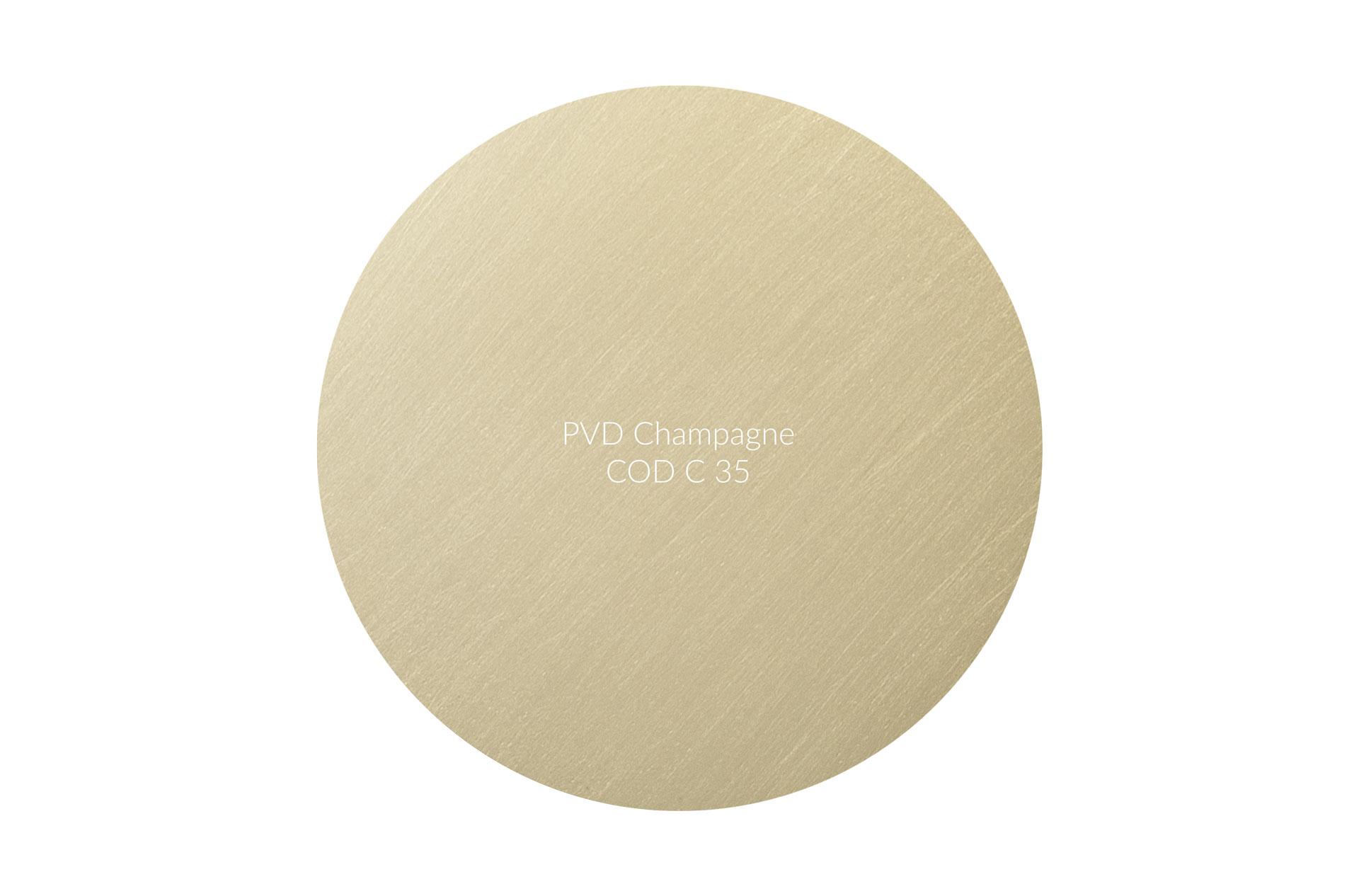 Dischetto PVD champagne cod C 35 graffiato