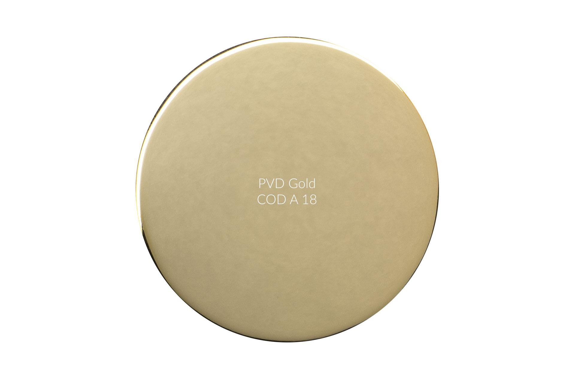 Dischetto PVD gold cod A 18 lucido