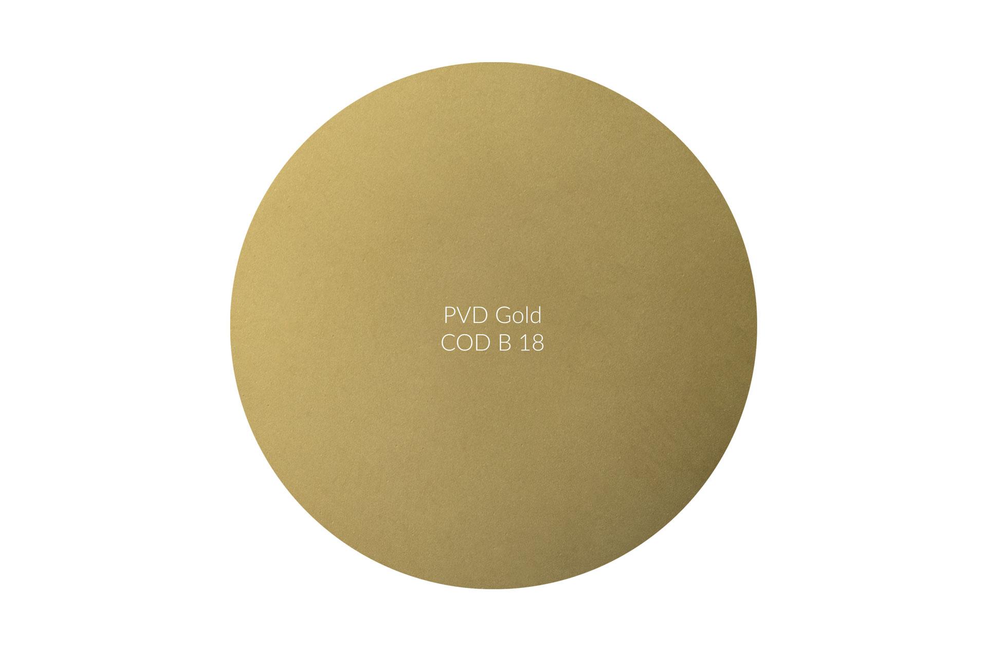 Dischetto PVD gold cod B 18 opaco