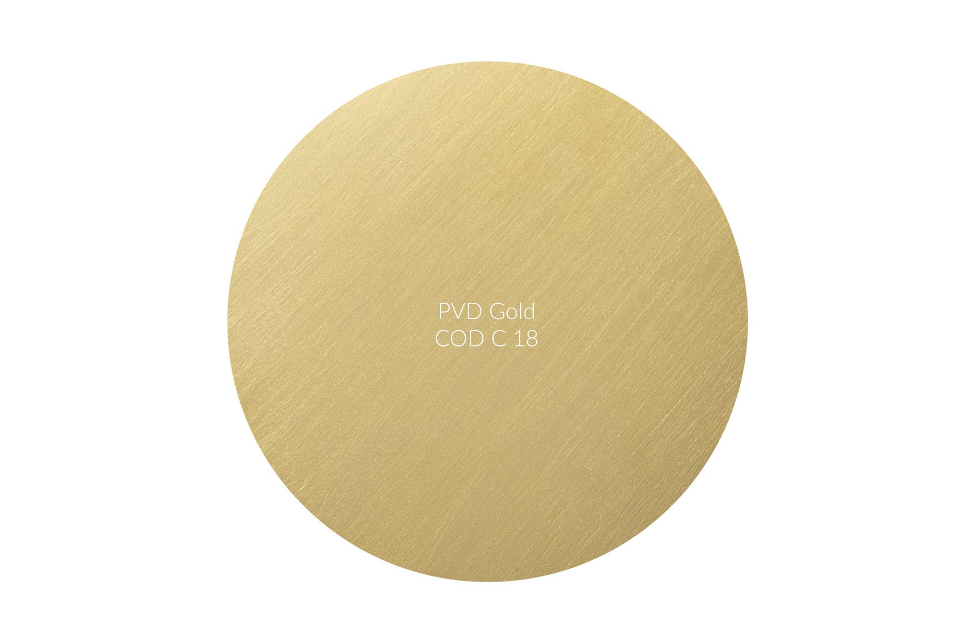 Dischetto PVD gold cod C 18 graffiato