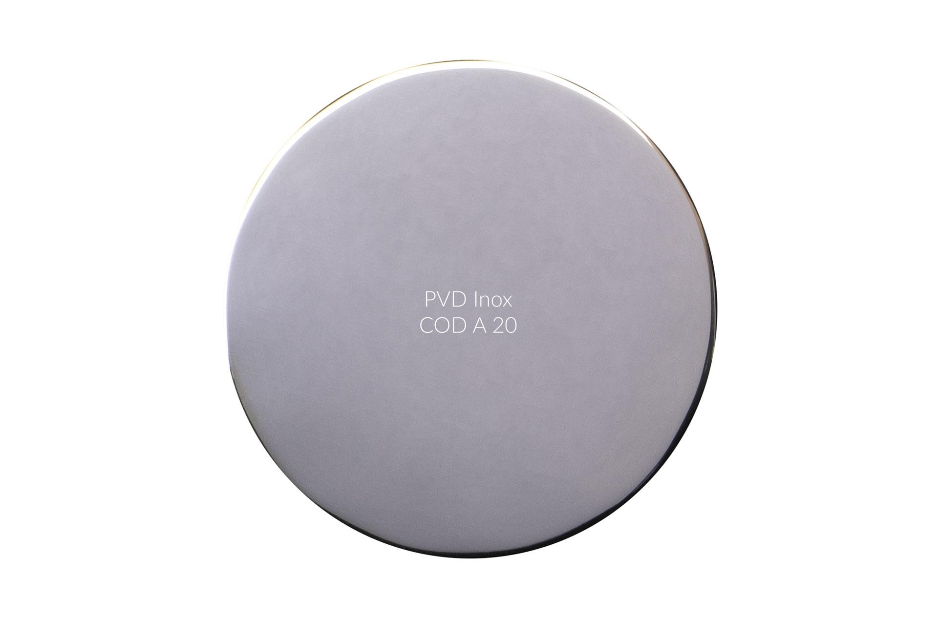 Dischetto PVD inox cod A 20 lucido