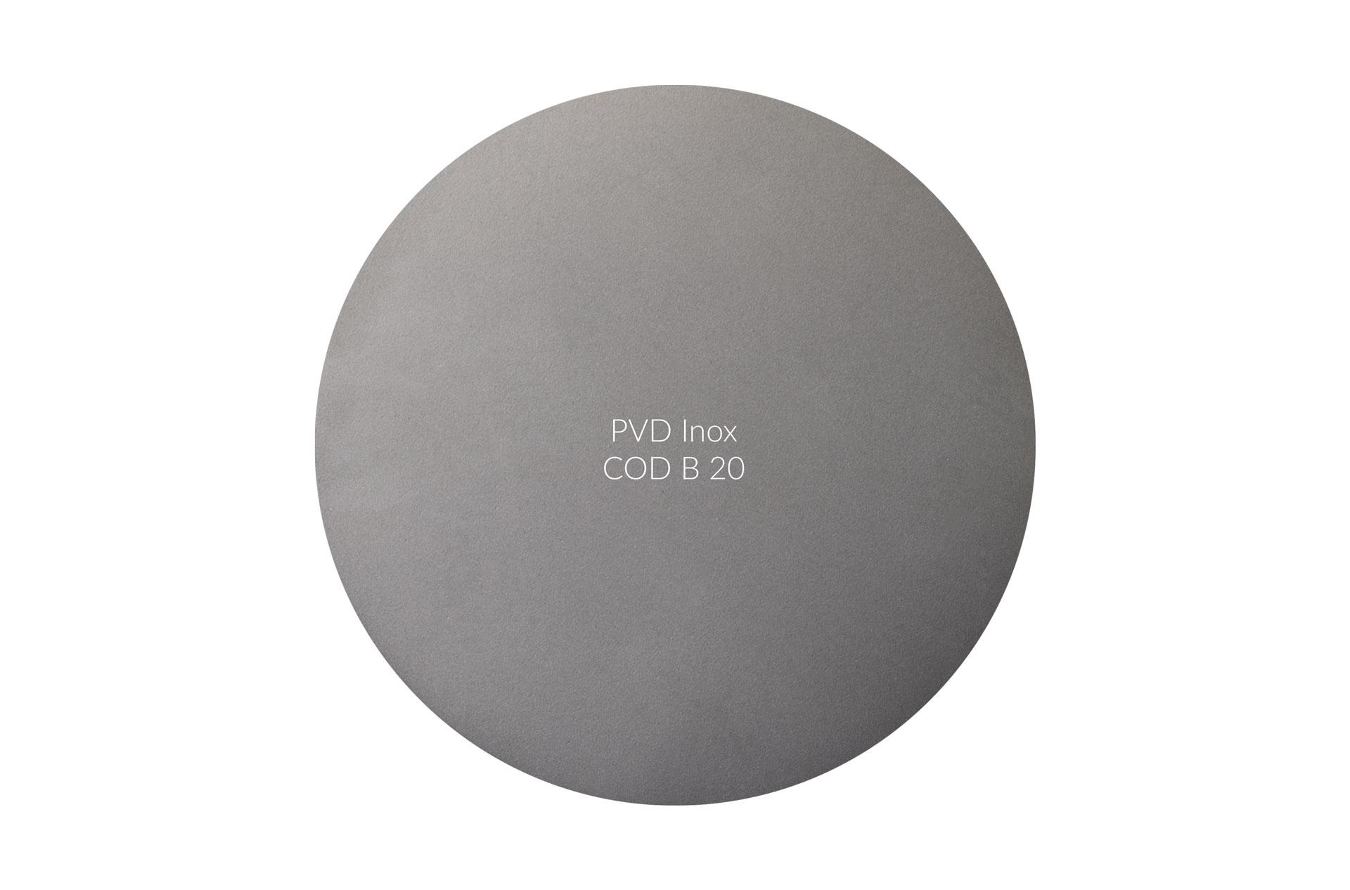 Dischetto PVD inox cod B 20 opaco