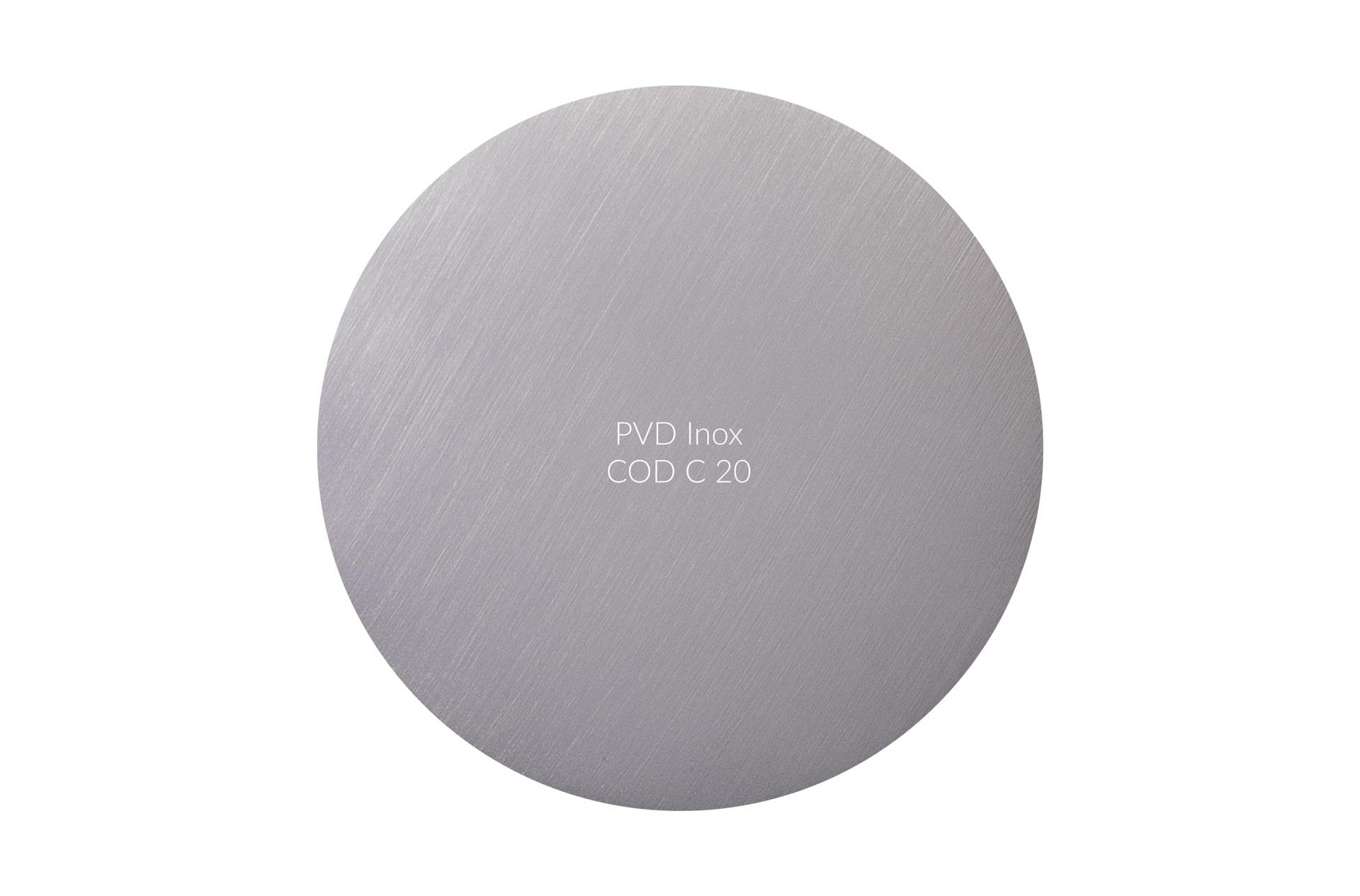 Dischetto PVD inox cod C 20 graffiato