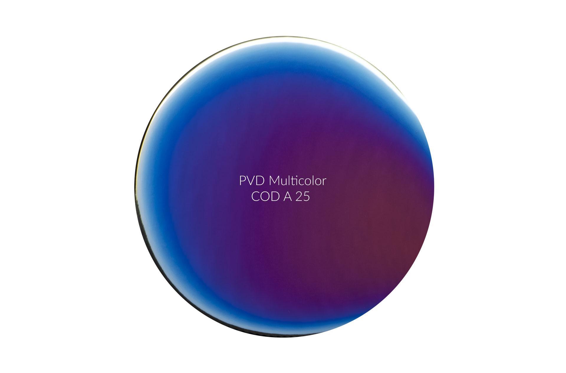 Dischetto PVD multicolor cod A 25 lucido