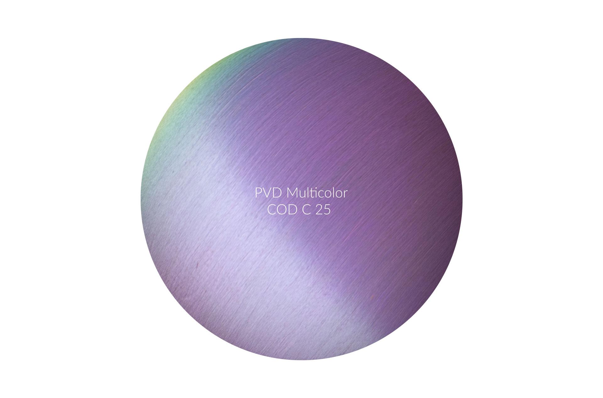 Dischetto PVD multicolor cod C 25 graffiato