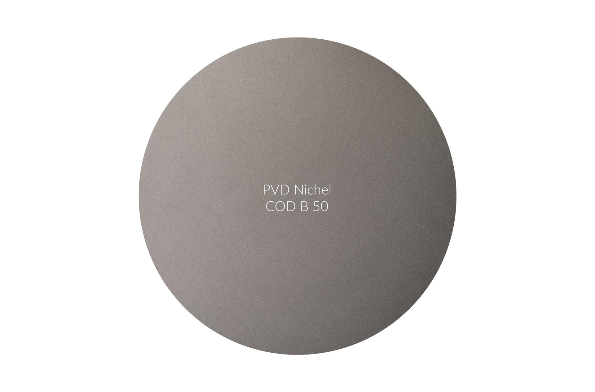 Dischetto PVD nichel cod B 50 opaco