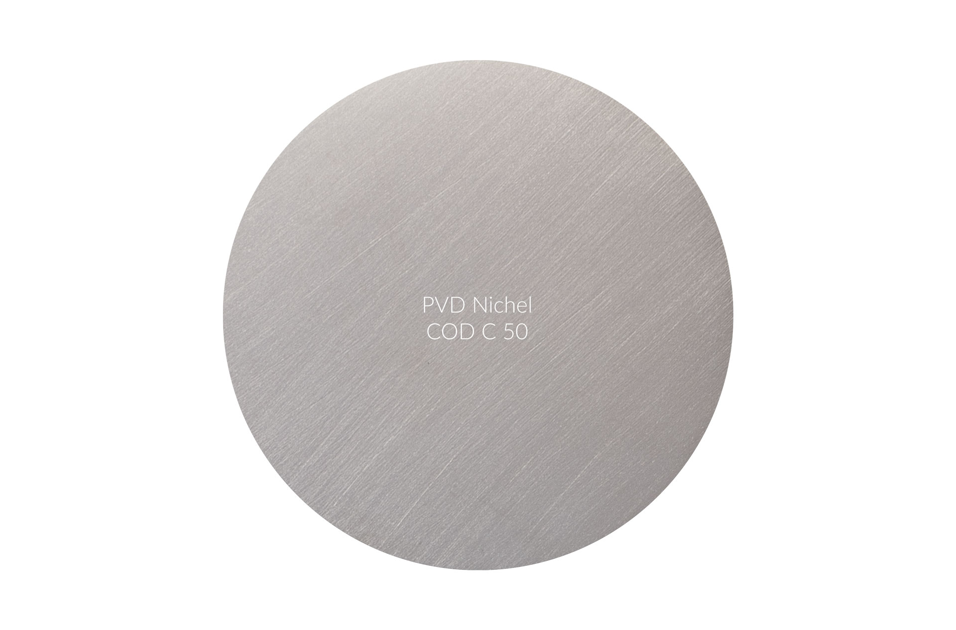 Dischetto PVD nichel cod C 50 graffiato