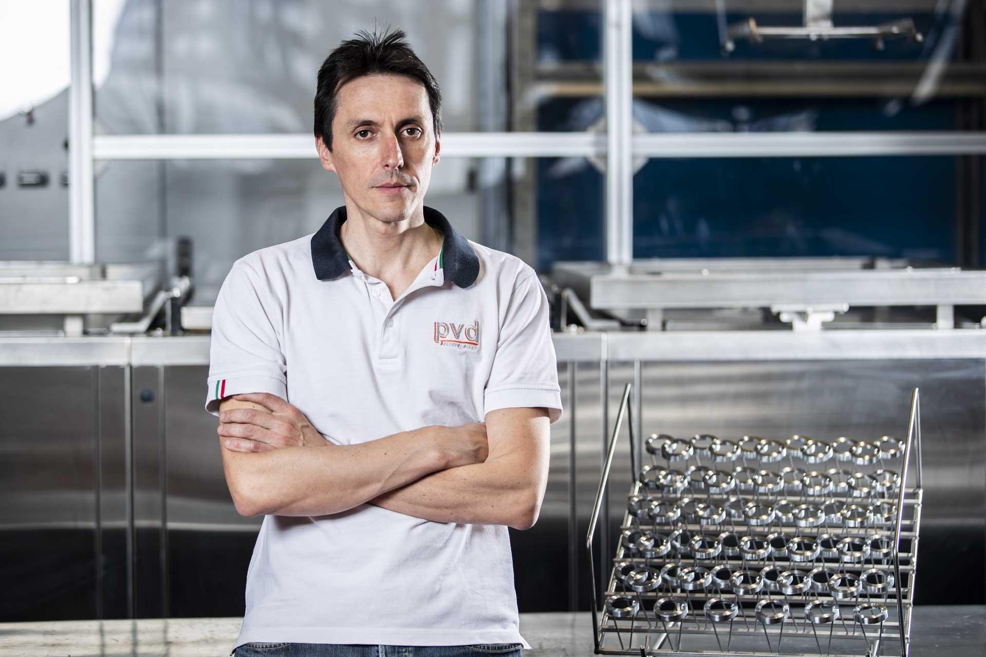 Alberto Vidani titolare PVD Technologies a Casto (Brescia)