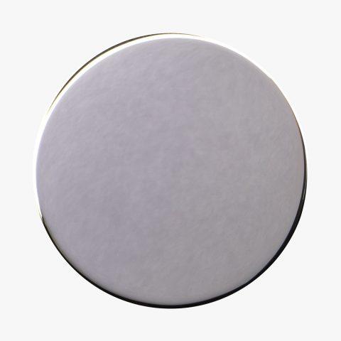 Dischetto Finitura PVD argento nichel lucido