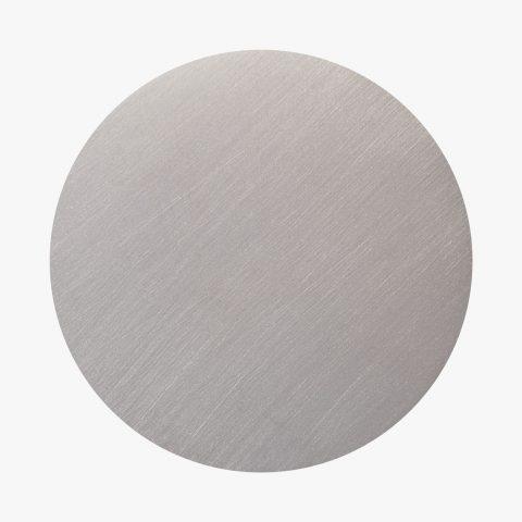 Dischetto Finitura PVD argento nichel graffiato