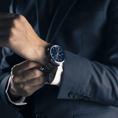 Orologio elegante da uomo con finitura in PVD black