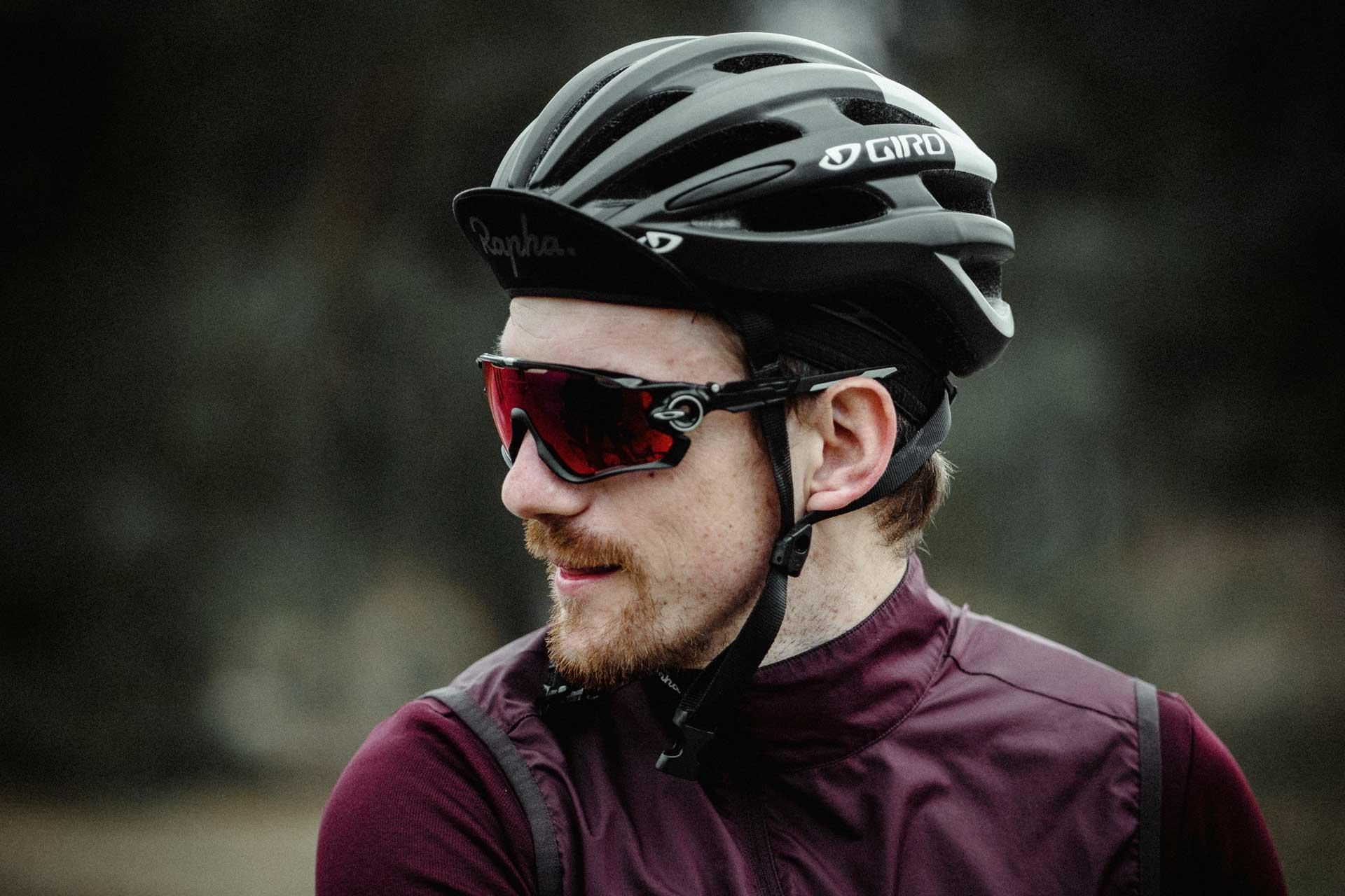 Occhiali in PVD per ciclista